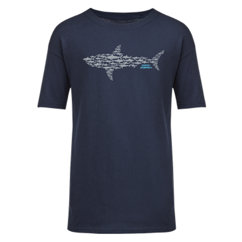 Costa Boy's Tee Shirt - Ocearch Huddle - Navy
