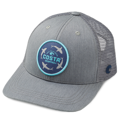 Costa Hat - Ocearch Circle Shark - Grey/Grey