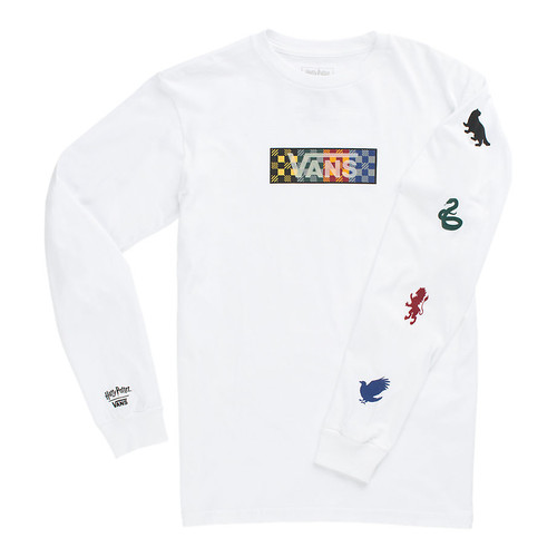 Vans Youth Shirt - Harry Potter Four Houses LS - White