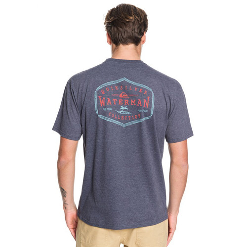 Quiksilver Tee Shirt - Anchored Mission - Parisian Night Heather