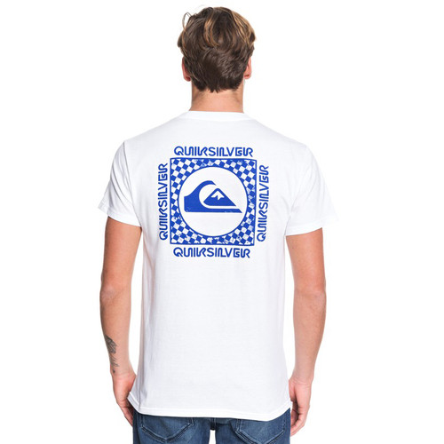 Quiksilver Tee Shirt - Checker Out - White