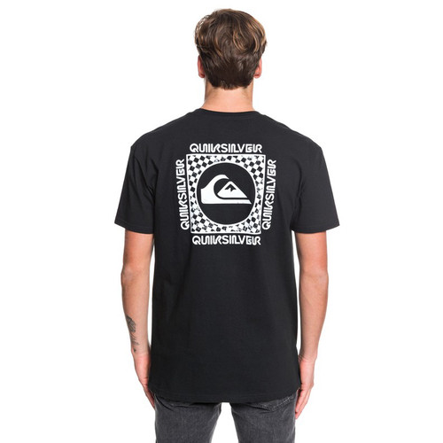 Quiksilver Tee Shirt - Checker Out - Black