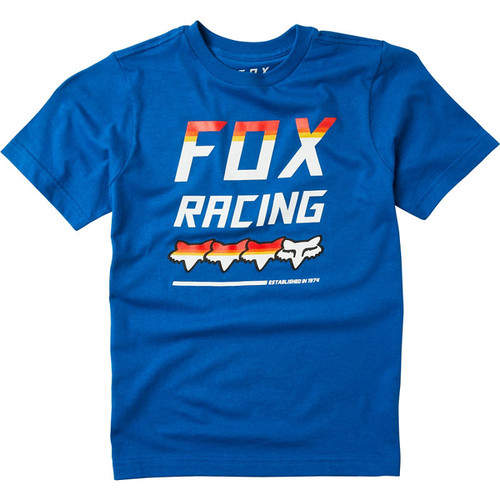 Fox Youth Tee Shirt - Full Count - Royal Blue