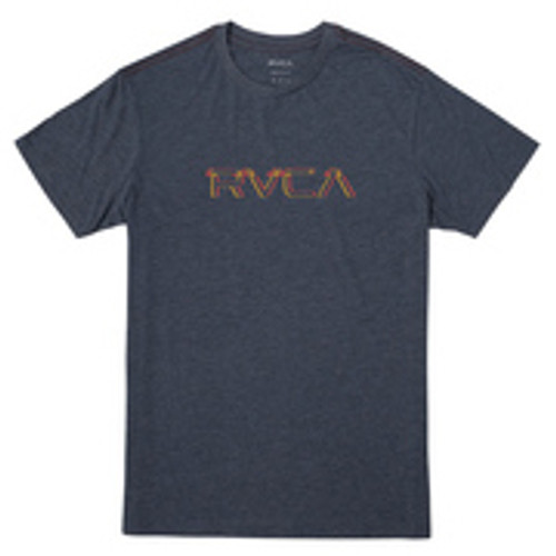 RVCA Youth Tee Shirt - Big Glitch - Moody Blue
