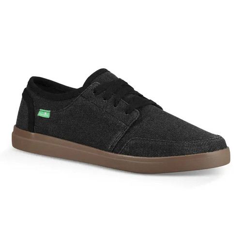 Sanuk Shoes - Vagabond Lace Sneaker - Black/Gum
