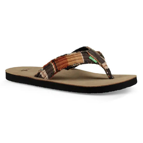 Sanuk Flip Flop - Fraid Not - Black Blanket