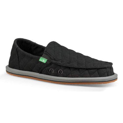 Sanuk Kid's Shoes - Lil Donna Quilted - Dark Charcoal