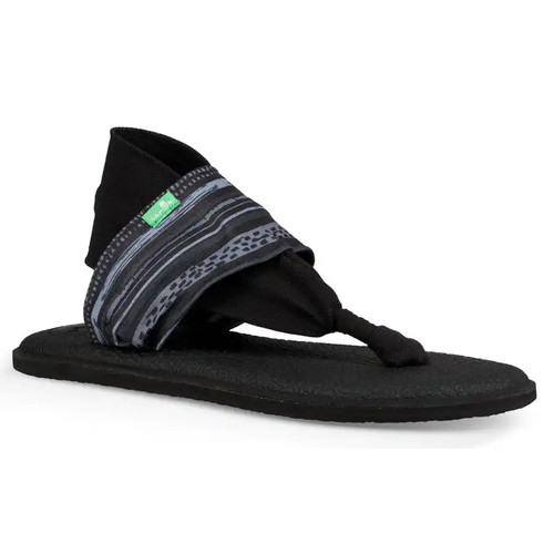 Sanuk Women's Flip Flop - Yoga Sling 2 Prints - Keys Ranch Black/Grey