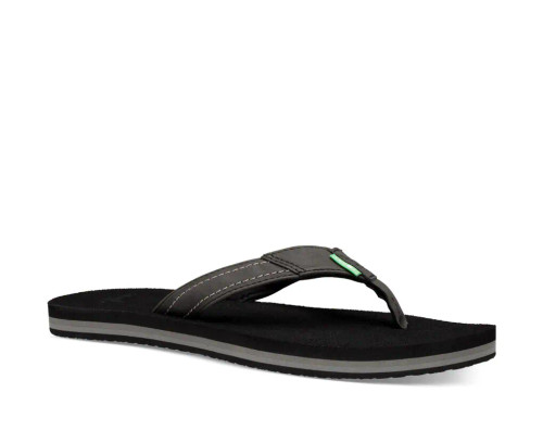Sanuk Women's Flip Flop - Yoga Mat Stacker - Black