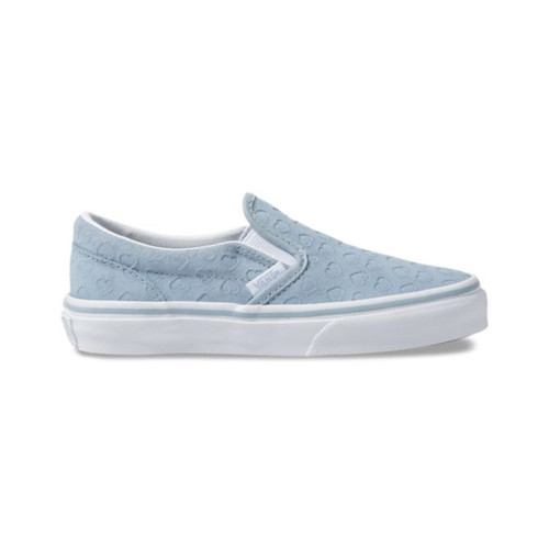 Vans Kid's Shoes - Classic Slip-On - Hearts/Blue Fog/True White