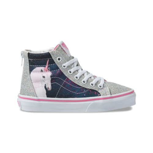 Vans Kid's Shoes - Sk8-Hi Zip - Digi Unicorn/Black/True White