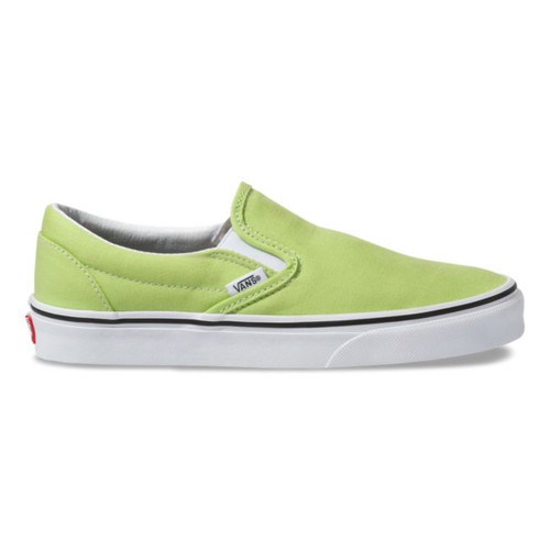 Vans Women's Shoes - Classic Slip-On - Sharp Green/True White