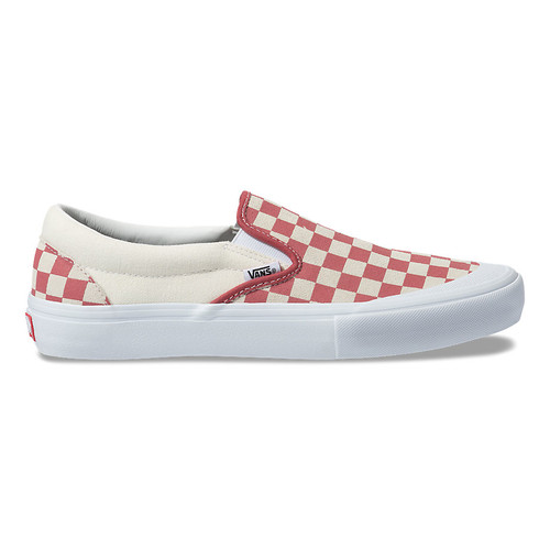 Vans Shoes - Slip-On Pro - Checkerboard/Mineral Red