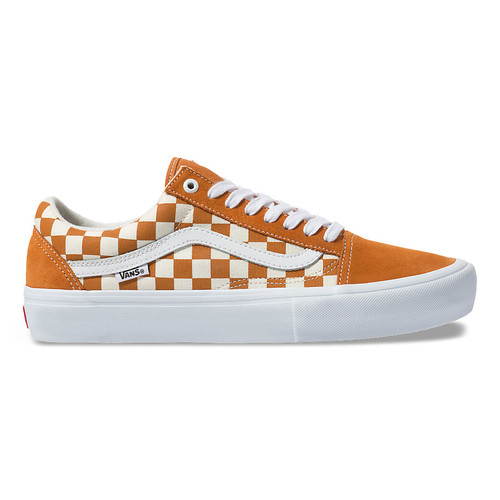 Vans Shoes - Old Skool Pro - Checkerboard/Golden Oak