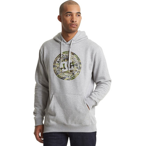 DC Hoody - Circle Star - Grey Heather/Camo