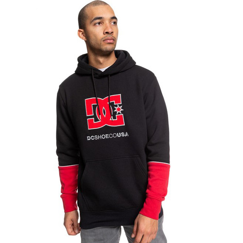 DC Hoody - Wepma - Black/Racing Red