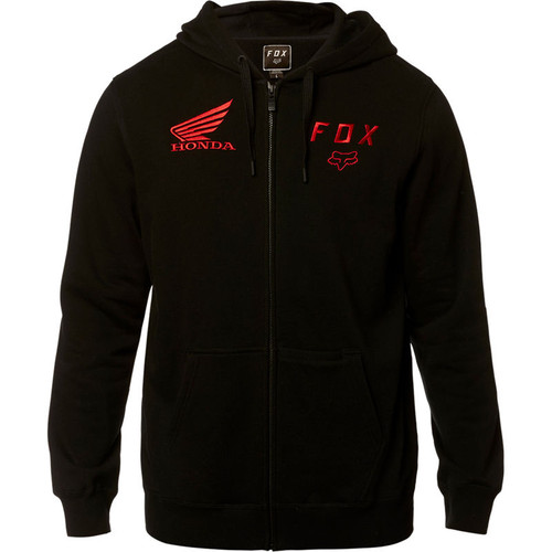 Fox Hoody - Fox Honda 2019 Zip - Black