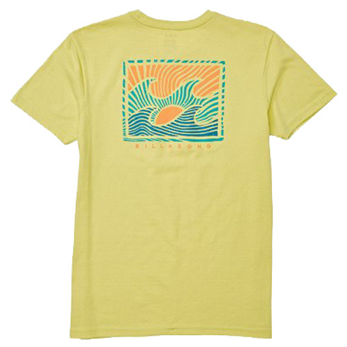 Billabong Boy's Tee Shirt - Dawn Patrol - Light Lime