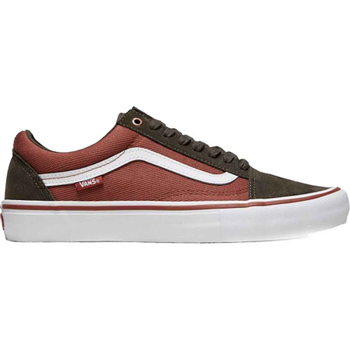 Vans Shoes - Old School Pro - Heavy Twill Olive/ Henna