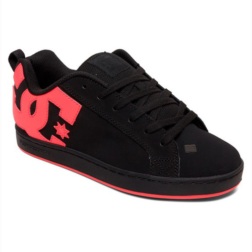 DC Women's Shoes - Court Graffik - Black/Hot Pink