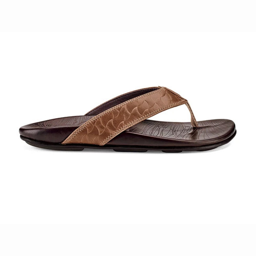 Olukai Flip Flops - Hikianalia - Tan/Dark Java