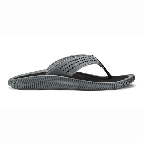 Olukai Flip Flops - Ulele - Dark Shadow/Black