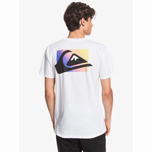 Quiksilver Tee Shirt - Neon Colors - White