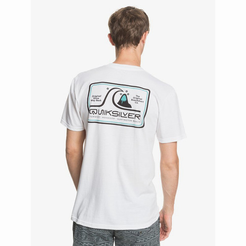 Quiksilver Tee Shirt - Sea Change - White
