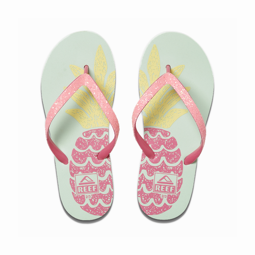 Reef Girls Flip Flop - Stargazer Prints - Big Pineapple