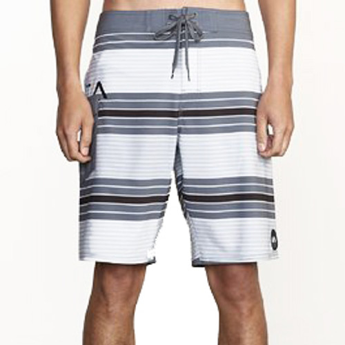 RVCA Boardshort - Uncivil Striped - Smoke