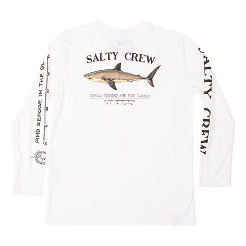 Salty Crew Shirt - Bruce Tech LS - White
