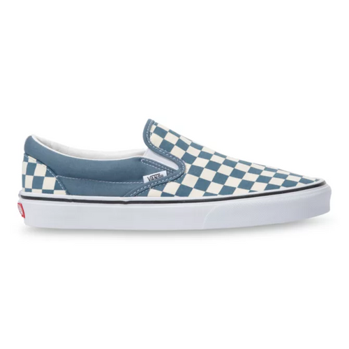 Vans Shoes - Classic Slip-On - (Checkerboard) Blue Mirage/True White