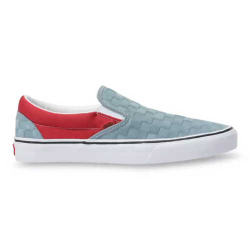 Vans Shoes - Classic Slip-On - (Deboss Checkerboard) Lead/Pompeian Red