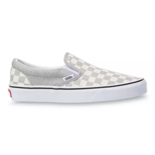 Vans Women's Shoes - Classic Slip-On - (Checkerboard) Silver/True White