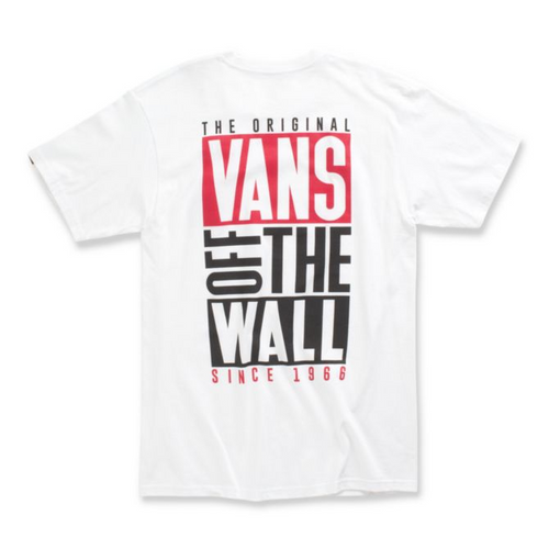 Vans Tee Shirt - New Stax - White