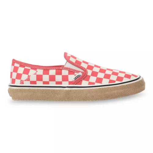 Vans Women's Shoes - Slip-On Esp SF - Checkerboard/Deep Sea Coral