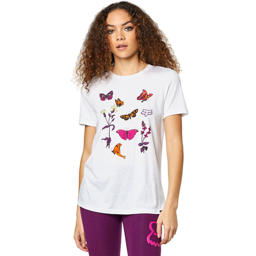 Fox Women's Tee Shirt - Monarch - White