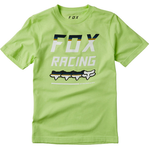Fox Youth Tee Shirt - Full Count - Lime