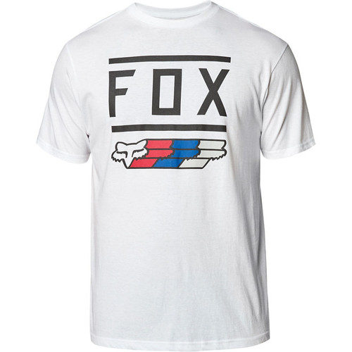 Fox Tee Shirt - Super - White/Black/Red