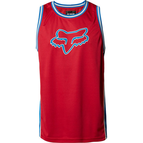 Fox Tank Top - Fox Head BBall - Chili