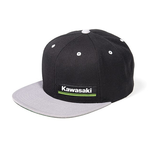 Factory Effex Hat - Kawasaki Wedge - Black/Silver