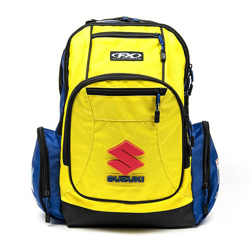 Factory Effex Backpack - Suzuki Premium - Yellow/Blue