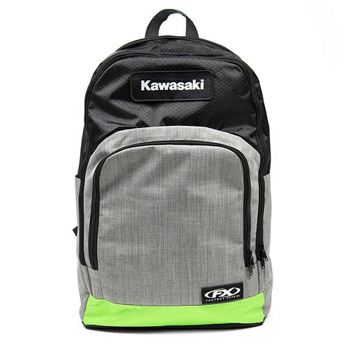 Factory Effex Backpack - Kawasaki Standard - Grey/Green