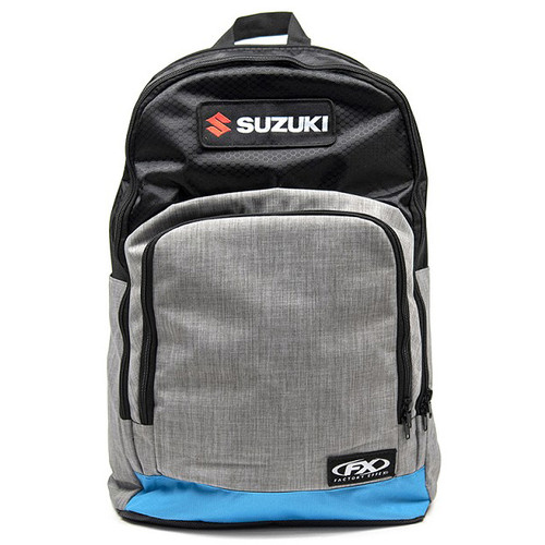 Factory Effex Backpack - Suzuki Standard - Grey/Light Blue