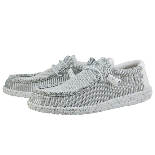 Hey Dude Shoes - Wally Sox - Stone White