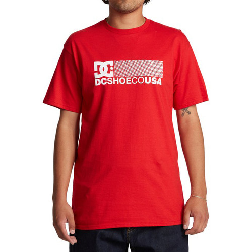 DC Tee Shirt - Break Bounce - Racing Red