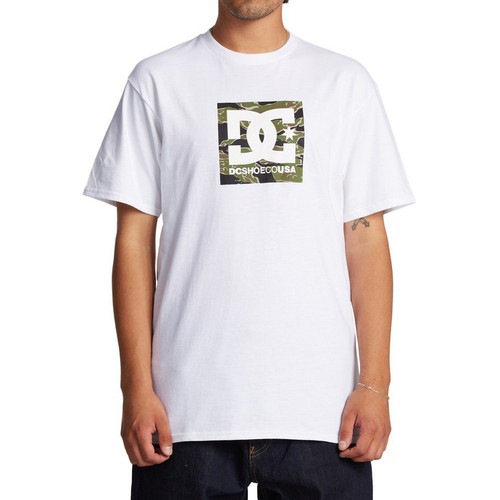 DC Tee Shirt - Square Star - Snow White/Camo