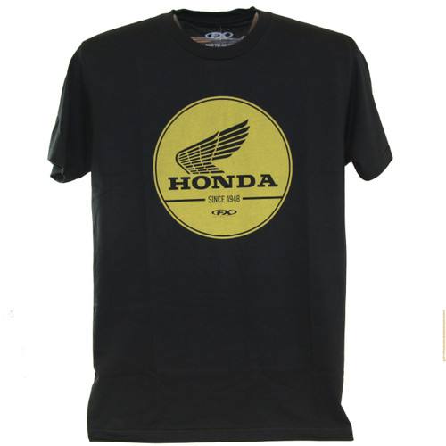 Factory Effex Tee Shirt - Honda Gold Label - Black