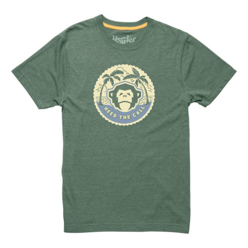 Howler Bros. Tee Shirt - Mono Medallion - Faded Olive