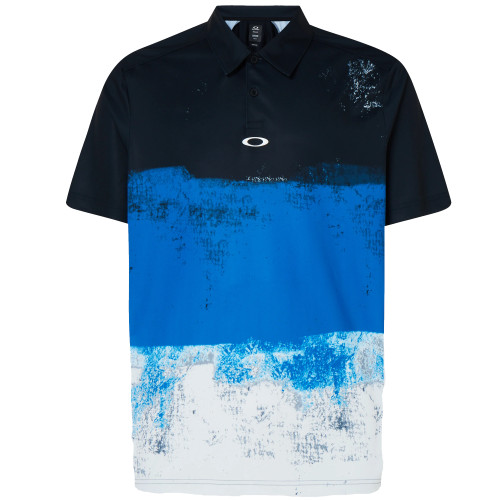 Oakley Shirt - Color Block Shade Polo - Uniform Blue